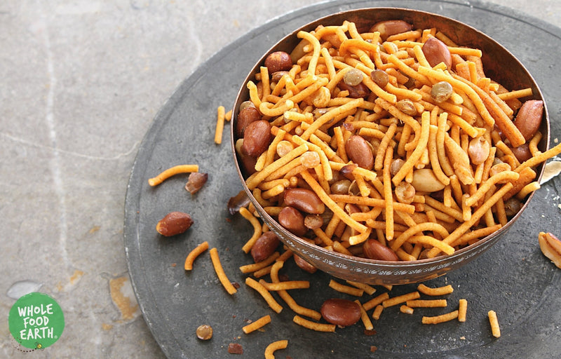 Wholefood Earth: Bombay Mix Coarse | GMO Free | Vegan | Dairy Free | No Added Sugar - Wholefood Earth® - 5056351403880