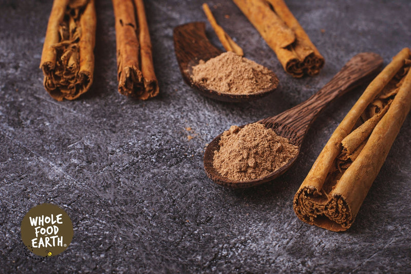 Wholefood Earth: Ceylon Cinnamon Powder (True) | Raw | GMO Free | True Ceylon | Srilanka - Wholefood Earth®