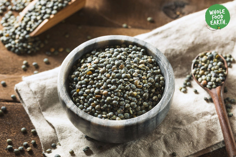 Wholefood Earth: Dark Speckled Lentils | GMO Free | Natural | Vegan | Dairy Free | No Added Sugar - Wholefood Earth® - 5056351403323