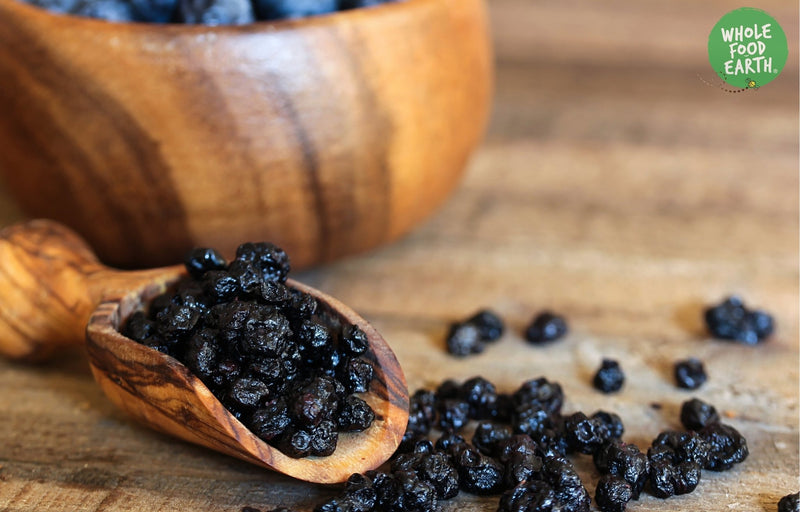 Wholefood Earth: Dried Blueberries | GMO Free | Vegan | Dairy Free - Wholefood Earth® - 5056351401664
