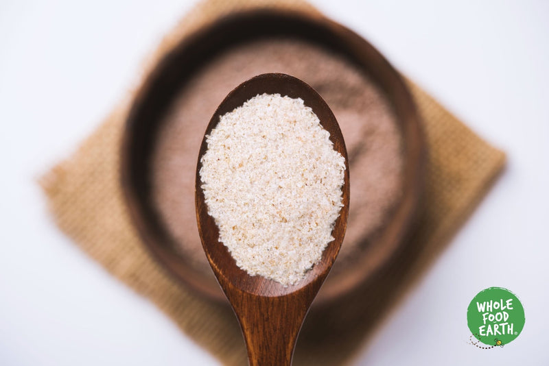 Wholefood Earth: Organic Psyllium Husk Powder | GMO Free | Vegan | Raw | Additive-Free | Natural Fibre - Wholefood Earth®