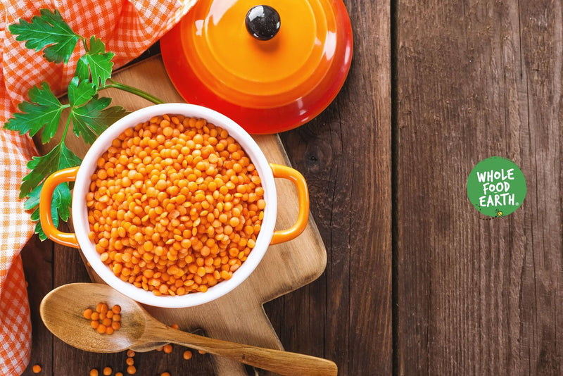 Wholefood Earth: Organic Red Split Lentils | GMO Free - Wholefood Earth®