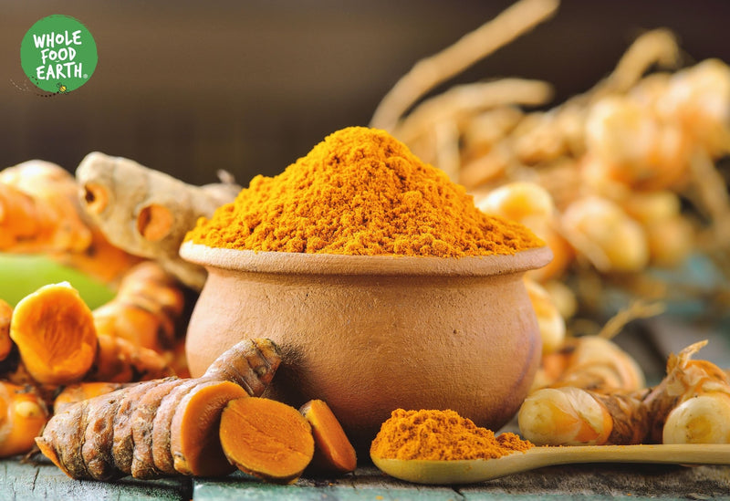 Wholefood Earth: Organic Turmeric Powder | Vegan | GMO Free | Rich in Curcumin - Wholefood Earth®