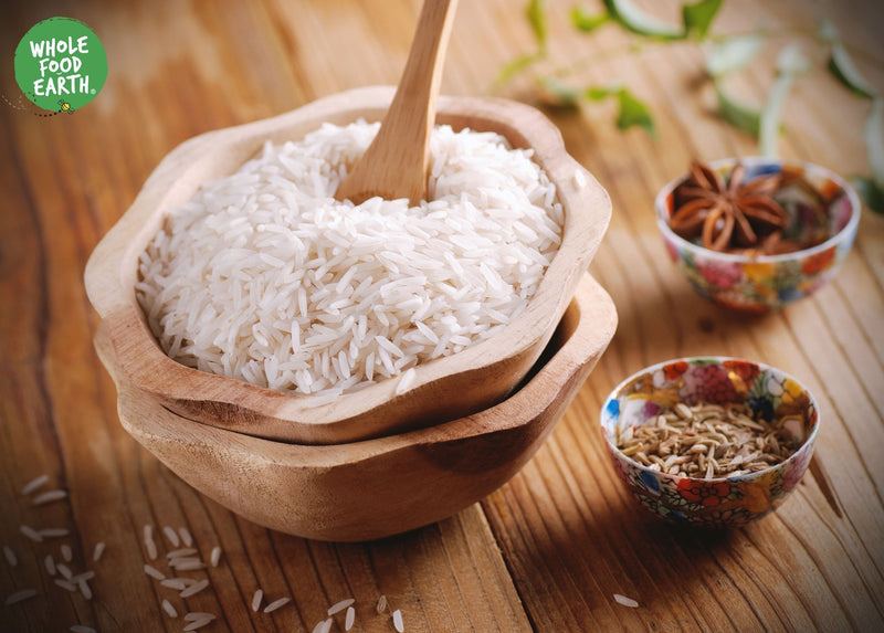 Wholefood Earth: Organic White Basmati Rice | GMO Free - Wholefood Earth®