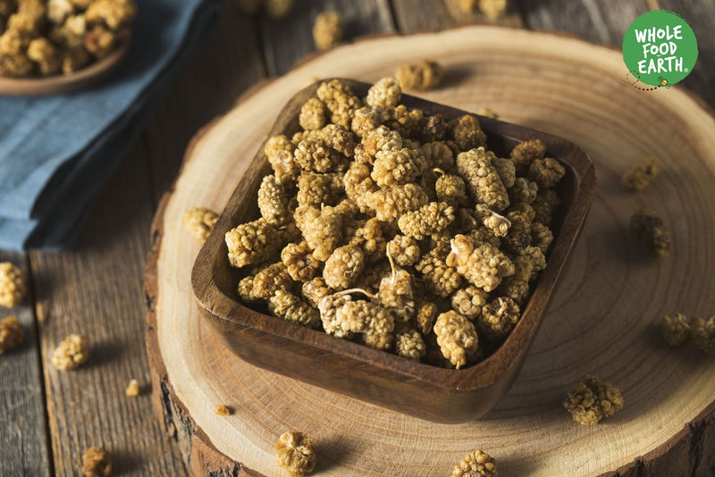 Wholefood Earth: Organic White Mulberries | GMO Free | Raw | Sundried - Wholefood Earth®