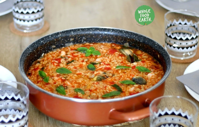 Wholefood Earth: Orzo Pasta | GMO Free | Vegan | Dairy Free | No Added Sugar - Wholefood Earth® - 5056351403163