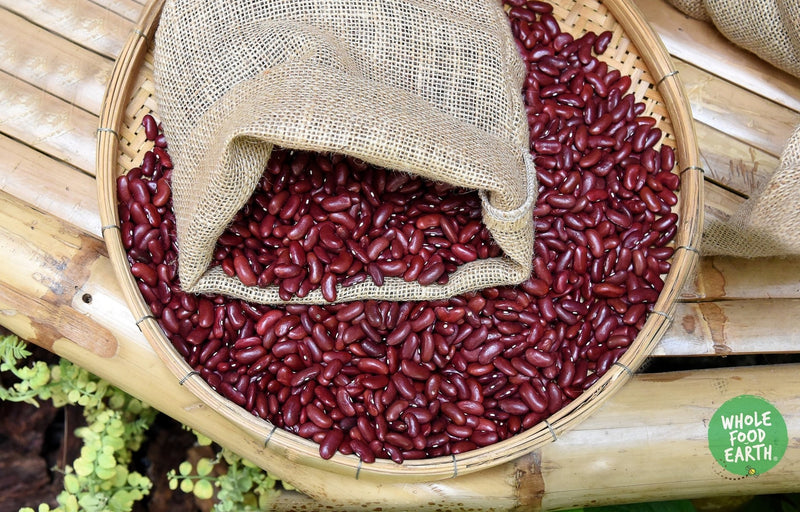Wholefood Earth: Polished Red Kidney Beans | GMO Free | Natural | Vegan | Dairy Free | No Added Sugar - Wholefood Earth® - 5056351407628