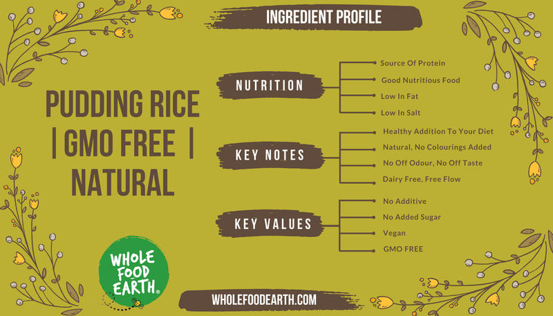 Wholefood Earth: Pudding Rice | GMO Free | Natural | Vegan | Dairy Free | No Added Sugar - Wholefood Earth® - 5056351402746