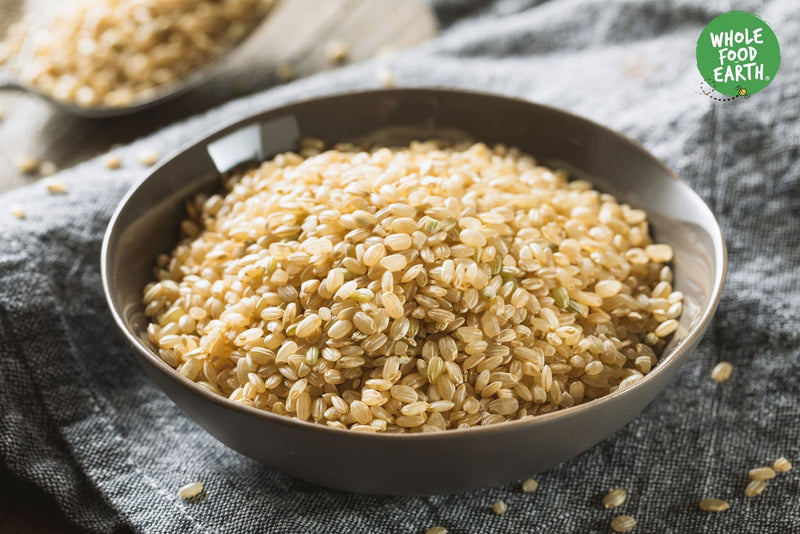 Wholefood Earth: Short Grain Brown Rice | GMO Free | Natural | Vegan | Dairy Free | No Added Sugar - Wholefood Earth® - 5056351402500
