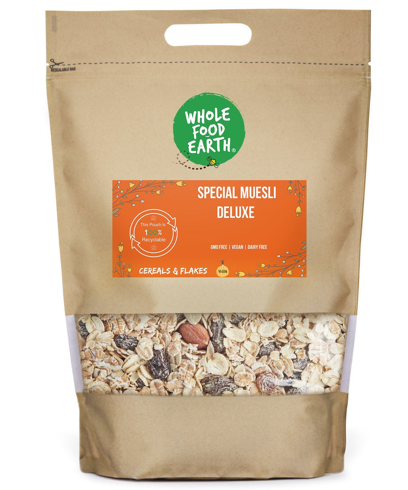 Wholefood Earth: Special Muesli Deluxe | GMO Free | Vegan | Dairy Free - Wholefood Earth® - 5056351408298