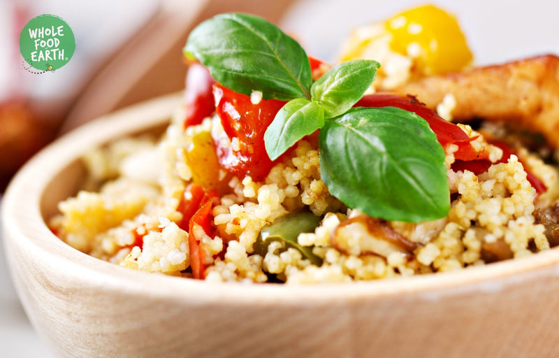 Wholefood Earth: Wholemeal Cous Cous | GMO Free | Vegan | Dairy Free | No Added Sugar - Wholefood Earth® - 5056351402869