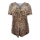 Ruched Leopard Print Tunic