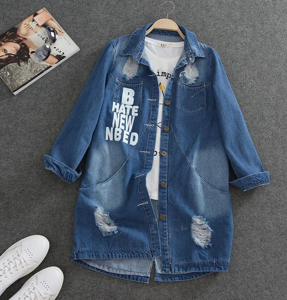 Oversized Denim Hustle Jacket