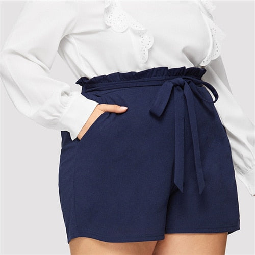 Pocket Belted Frill Shorts