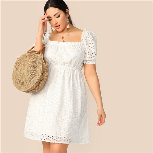 White Frill Bohemian Dress