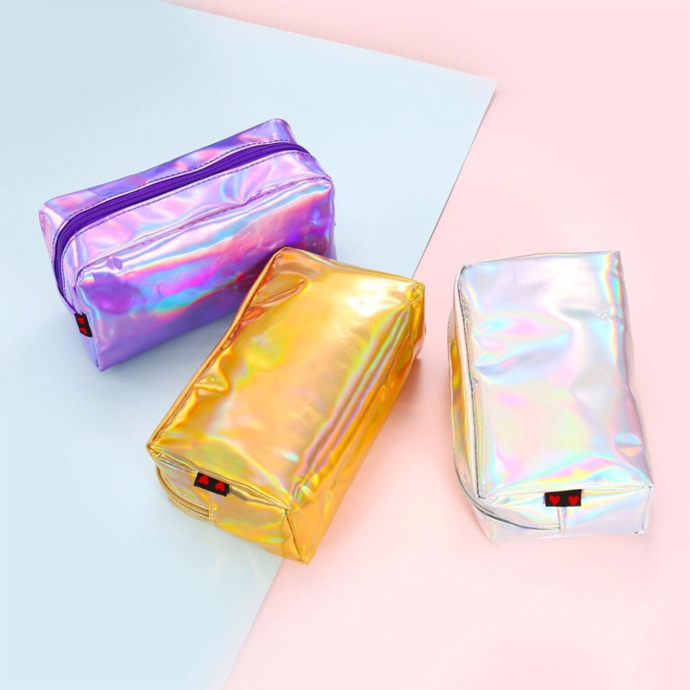 Holographic Cosmetic Makeup Case