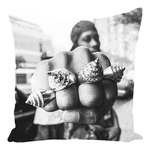 RZA Rings Throw Pillow