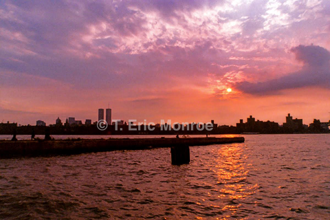 Sunset View: Twin Towers Before Their Fall, Williamsburg, Summer 2001.