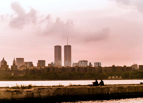 Twin Towers across the water Williamsburg, Brooklyn, 2001