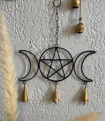Moon and Pentacle Wind Chime