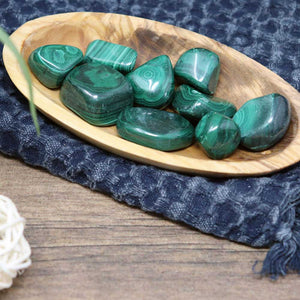 Malachite Tumbled Stones