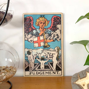 Tarot - 20 - Judgement Full Color Wood Wall Art
