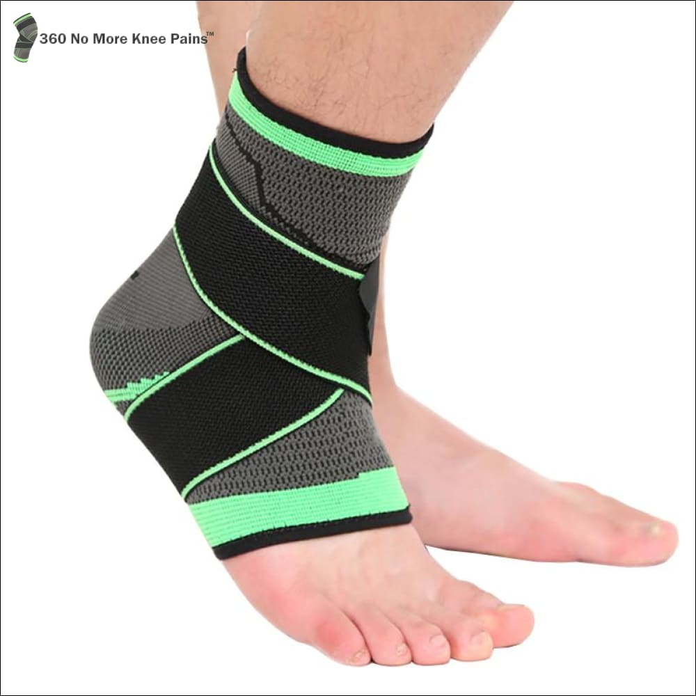 ff6e58eb76 Professional Ankle Support Compression Sleeve - Green / Medium: (7.5 - 8.3  Inches) ...