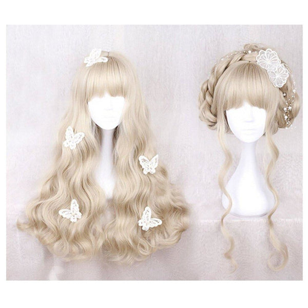 Lolita - Braided 3 Blonde Wigs