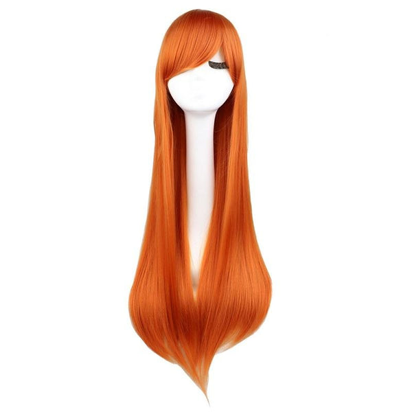 Fashion Wig - Straight 28 11 Colors Orange / 28Inches