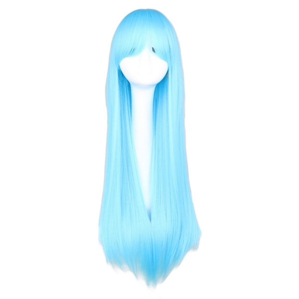Fashion Wig - Straight 28 11 Colors Sky Blue / 28Inches