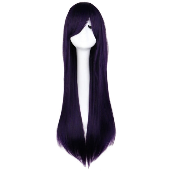 Fashion Wig - Straight 28 11 Colors Black Purple / 28Inches