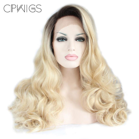 "Lace Fronts - 24"" - Blonde Curly Wigs"
