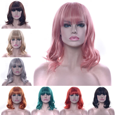 "Fashion Wig - Wavy 12"" - 10 Colors"