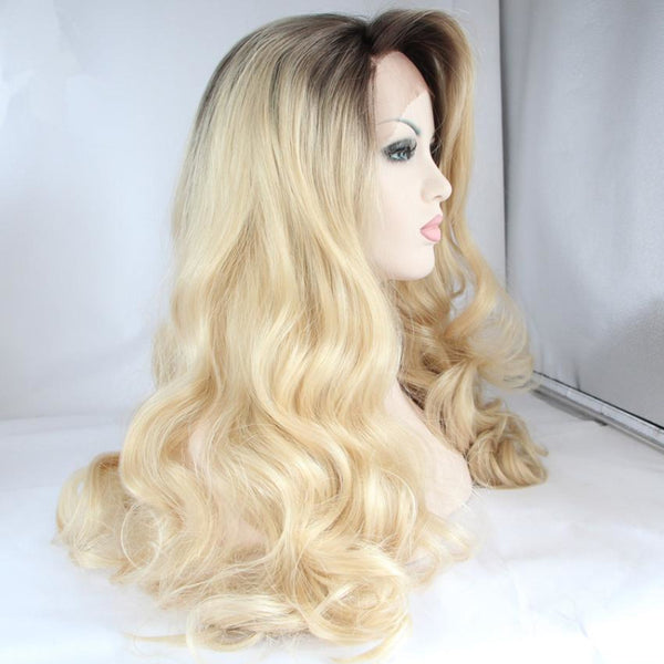 Lace Fronts - 24 Blonde Curly Wigs