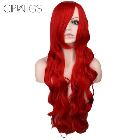 "Fashion Wig - Wavy 32"" - Dark Red Wigs"