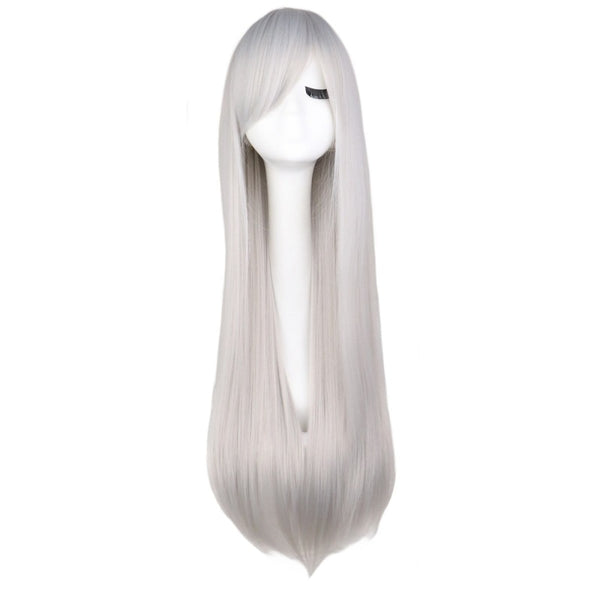 Fashion Wig - Straight 28 11 Colors Silver Grey / 28Inches