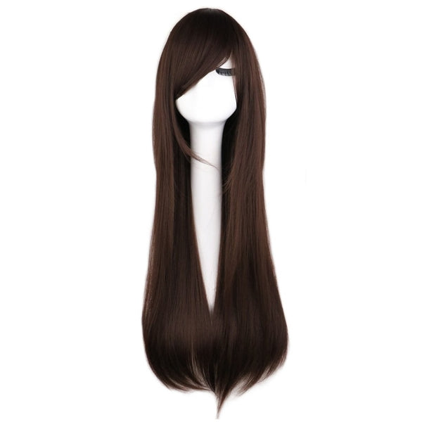 Fashion Wig - Straight 28 11 Colors Dark Brown / 28Inches