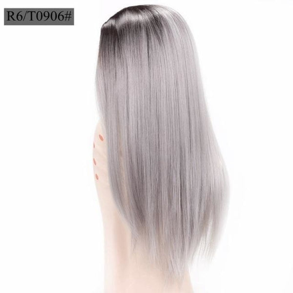 Straight 26 Inches - Synthetic Wigs T1B/light Grey / 26Inches