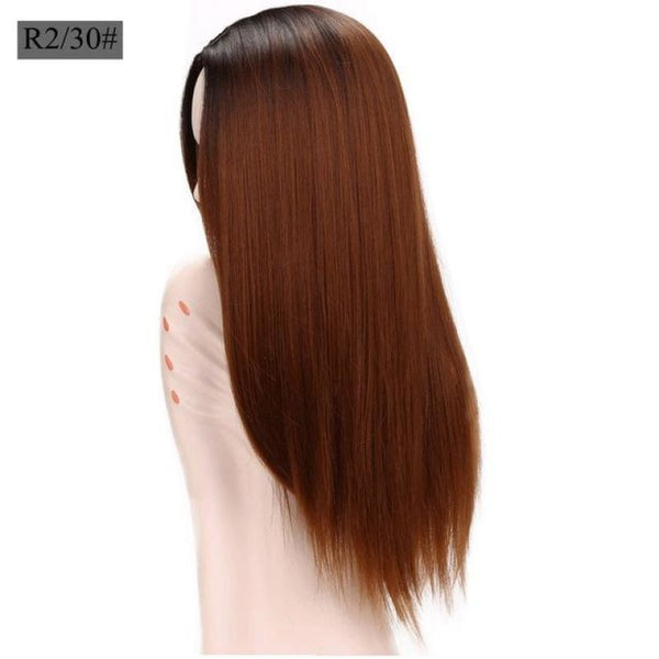 Straight 26 Inches - Synthetic Wigs T1B/30 / 26Inches