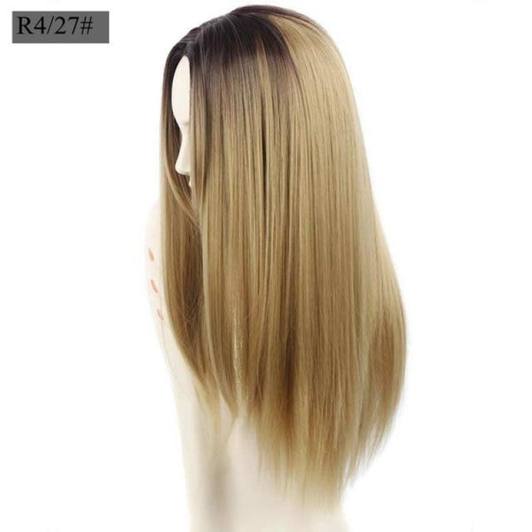 Straight 26 Inches - Synthetic Wigs Multi Color / 26Inches