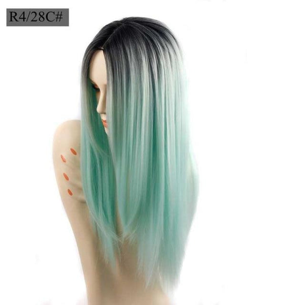 Straight 26 Inches - Synthetic Wigs Ombre / 26Inches