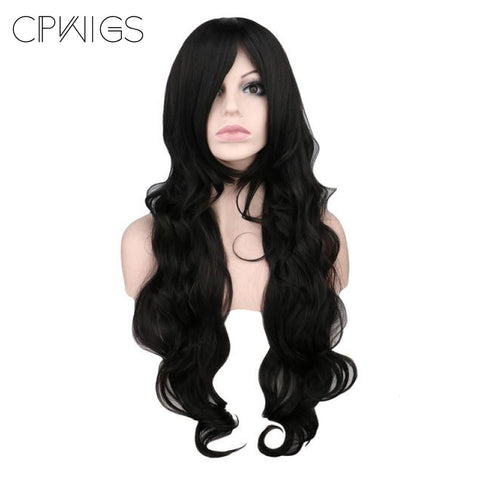 "Fashion Wig - Wavy 32"" - Black Wigs"