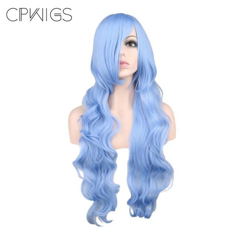 "Fashion Wig - Wavy 32"" - Light Blue Wigs"