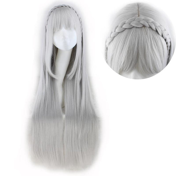 Lolita - Braided 1 Sliver Gray Wigs