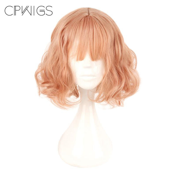Fashion Wig - Curly 14 Air Bang Wigs (6 Colors) T1B/613