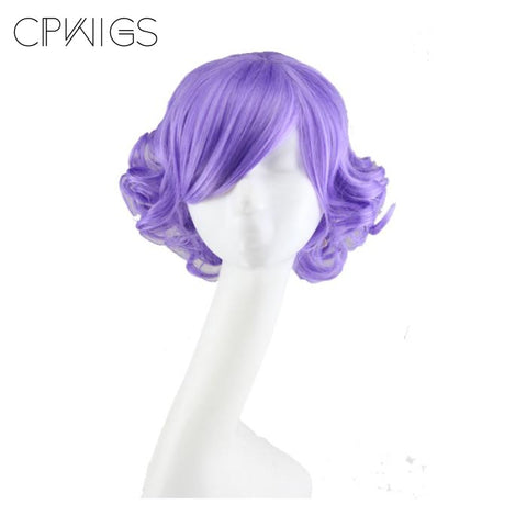Curly Bob - Purple Wigs