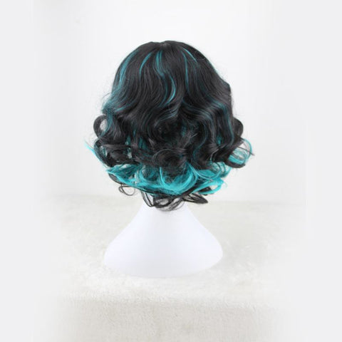 Curly Bob - Blue Black Wigs