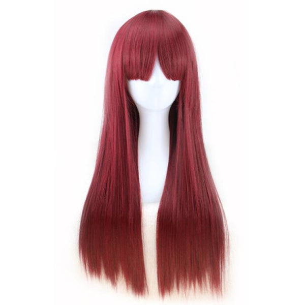 Fashion Wig - Straight 24 Brown Wigs Auburn / 24Inches