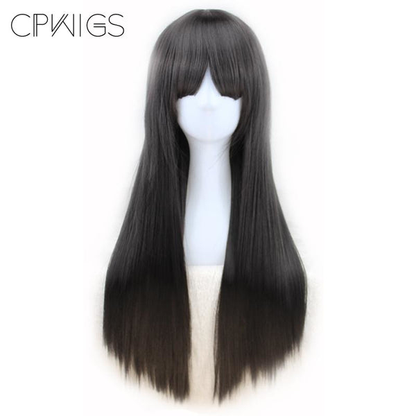 Fashion Wig - Straight 24 Brown Wigs Natural Black / 24Inches
