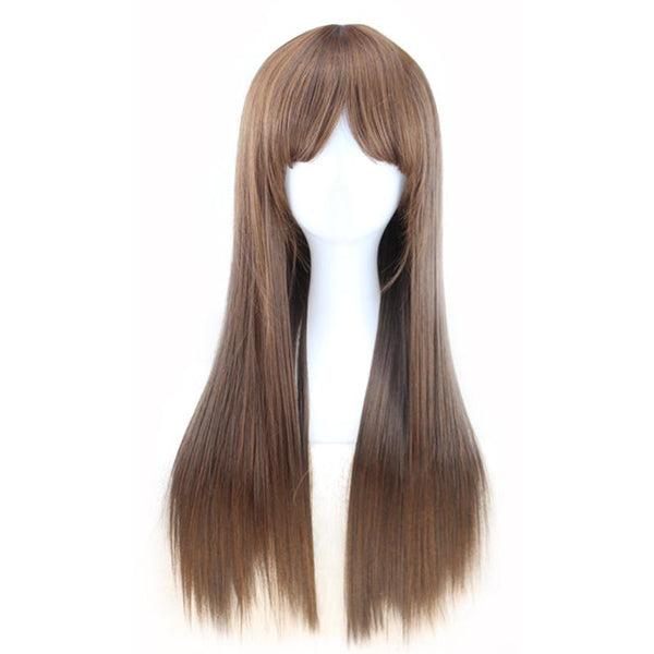 Fashion Wig - Straight 24 Brown Wigs #1 / 24Inches